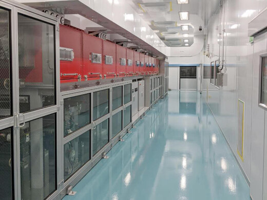 コーターマシン用クリーンルームの施工事例写真