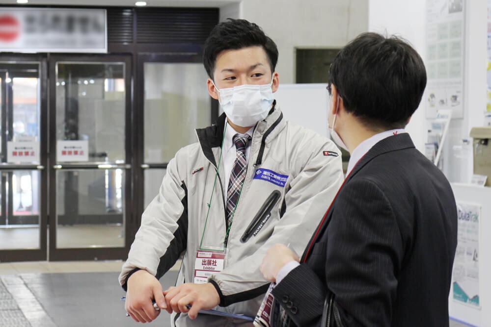 再生医療EXPO「大阪」の会期中の商談の様子